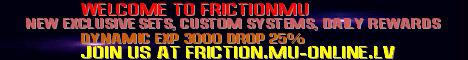FrictionMu Online Banner