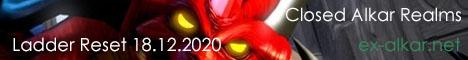 Alkar Games, сервер Diablo II, Ladder Reset 22.12.2017 Banner